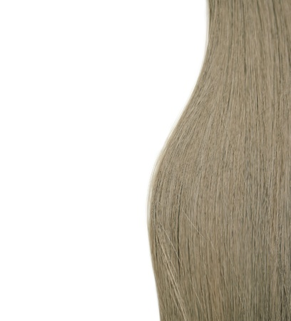 Closeup of long human hair photo