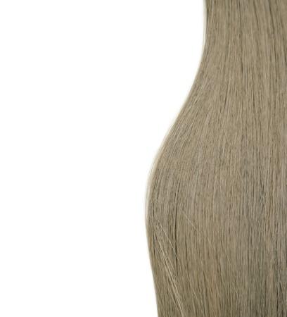 strand of hair: Closeup of long human hair Stock Photo