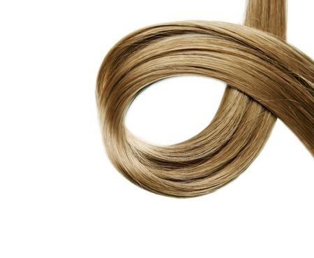 hair treatment: Closeup of long human hair Stock Photo