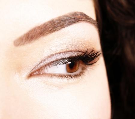 Closeup of beautiful eyes photo