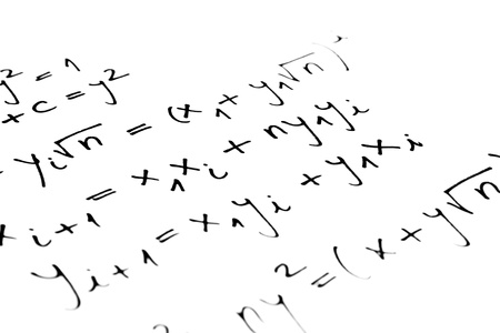 Equations on a sheet of paper