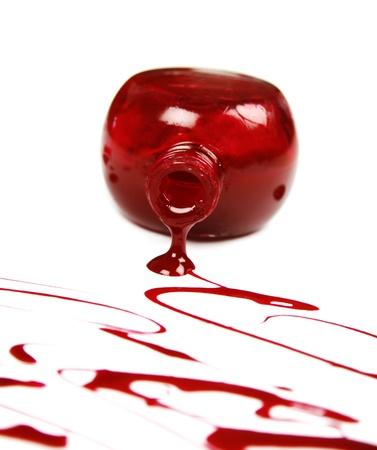 Red nail polish Stock Photo - 18072991