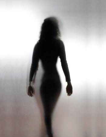 Woman�s shadow walking away
