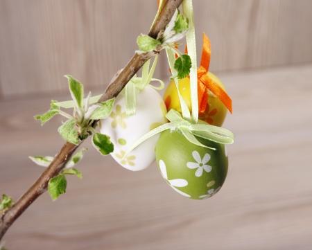 buona pasqua: Uova di Pasqua in un ramo