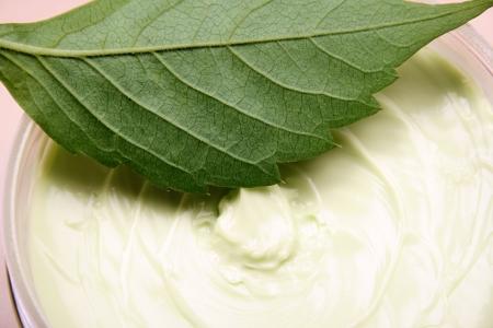 mantequilla: Primer plano de un tratamiento de belleza