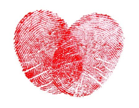 Heart made of fingerprints