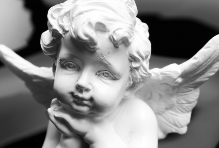 White angel statue photo