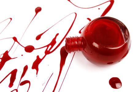Red nail polish Stock Photo - 18106627
