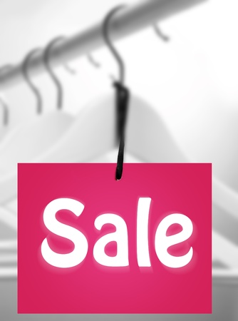 Close up of a colorful sale label concept Stock Photo