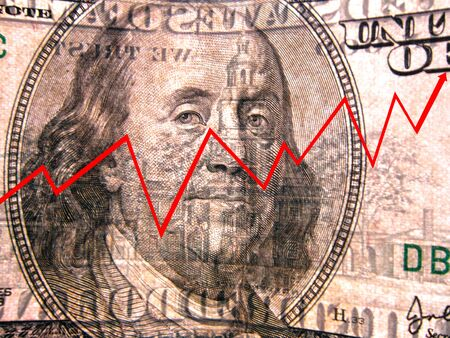 close-up captured in graphic lines on the dollar