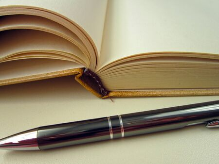 notebook and a pen. write, write