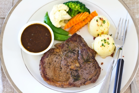 rib-eye steak photo