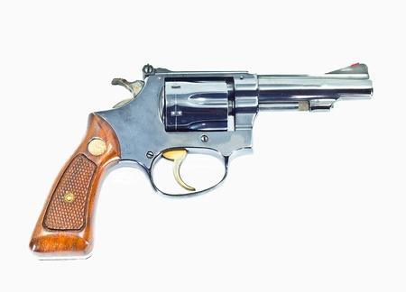 (Revolver) gun isolated on white background