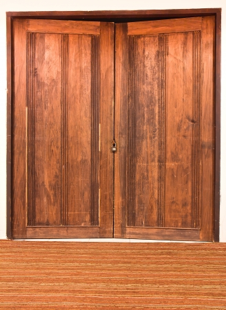 front image of ancient  wood doors Stock Photo - 17582267