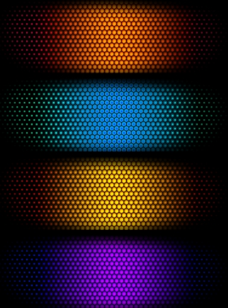 colorful slide: colorful honey comb pattern background