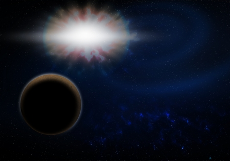 a graphic of planet explosion fantasy image background