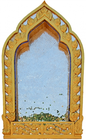 Traditional window , thai style pattern photo