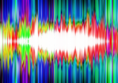 a graphic of abstract colorful sound check wave background photo