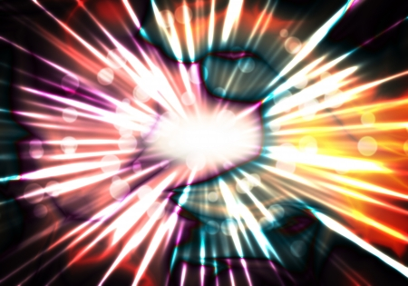 a graphic of abstract retro color explosion background Stock Photo
