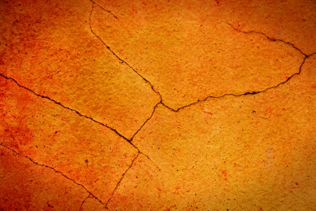 ancient yellow wall with cracks,old grunge vintage style Stock Photo - 22711367