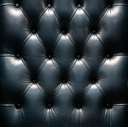 button tufted: a photo of close up leather upholstery sofa,classic retro Stock Photo