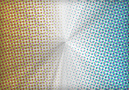 a graphic of abstract multicolored halftone pattern