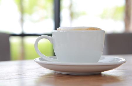 coffee with stream milk