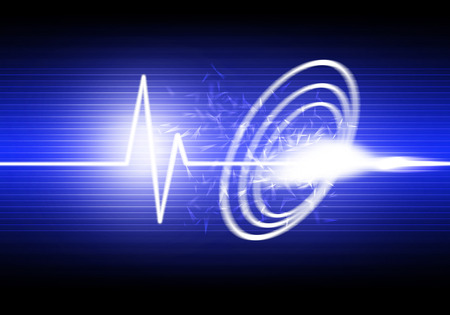 a graphic of sound wave,abstract background