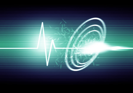 sonic: a graphic of sound wave,abstract background