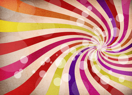 a graphic of abstract background explosion,vintage retro style with fabric texture and bokeh