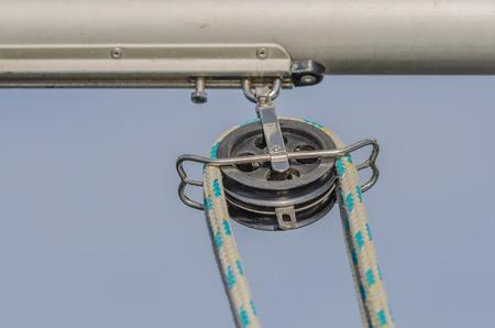 pulley: La polea de inversi�n Foto de archivo