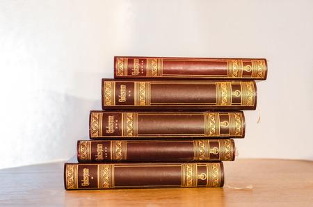 antiquarian: Old Book - Antiquarian Stock Photo