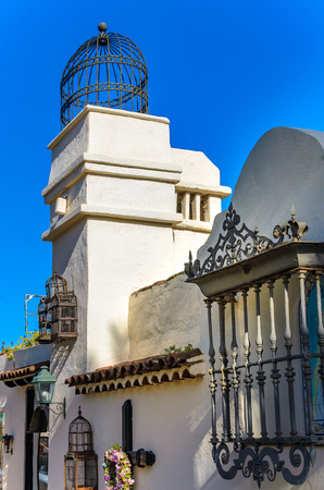 san pedro: The facade of the old convent of San Pedro at El Monasterio Stock Photo
