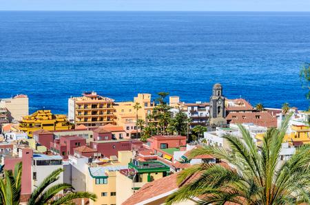 The roofs of the old town of Puerto de la Cruz. Stock Photo