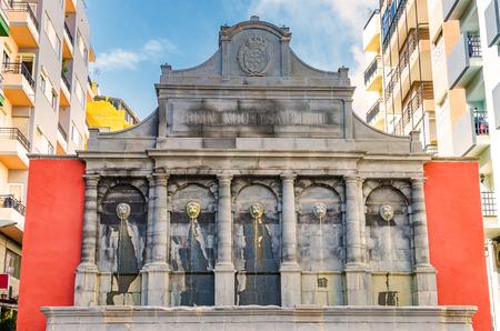isabel: The fountain Reinado de Isabel II de Espana. Featured Buildings in Santa Cruz, the capital of Tenerife.