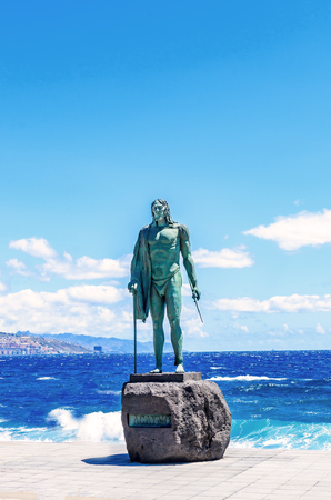 Guanche prince in Candelaria, Tenerife Stock Photo