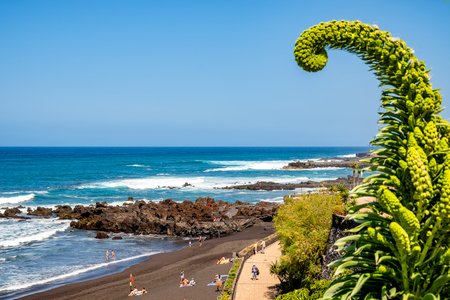 Playa Jardin - Puerto de la Cruz One of the most beautiful beaches in Tenerife. The beach