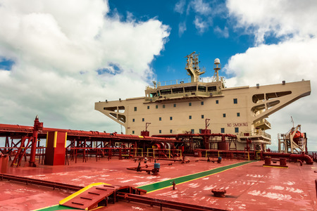 superstructure: Superstructure of the crude oil tanker - stck photo