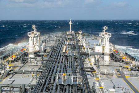 tanker ship: Tanker ship in the open blue sea