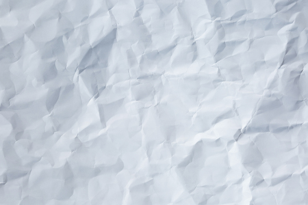 crumpled sheet: Crumpled sheet of white paper texture background. Stock Photo
