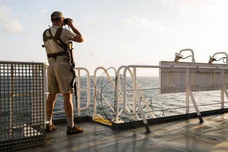 Guard on board sea going vessel in aden gulf