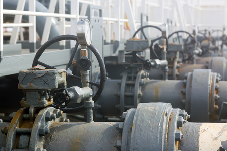 Valves and pipeline of tankers cargo system.