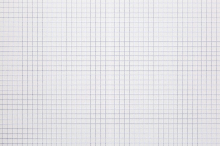 Background of a white notebook sheet of paper in a cage. Stock Photo