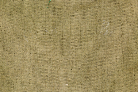 Background of the old used burlap khaki. Stock Photo