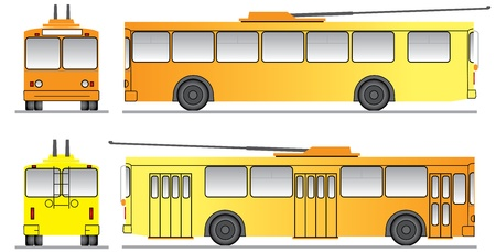 trackless: template for the design of trolleybus for promotional purposes Illustration