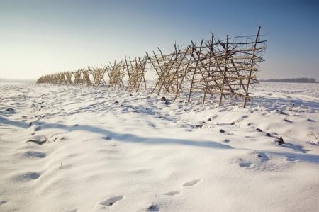 delays: construction delays for snow Stock Photo