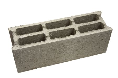 masonary: Cinderblock building to house Stock Photo