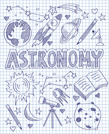 asterism: Hand drawn Astronomy set