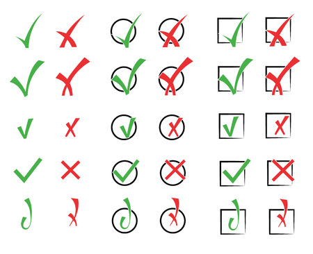 Vector collection of check marks