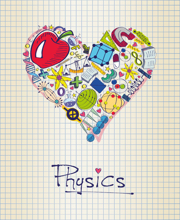 physics in shape of heart